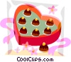 Vector Clip Art graphic  of a Valentines day chocolate