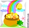 St. Patrick's Day Pot of Gold Vector Clipart illustration
