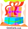 Vector Clip Art image  of a Christmas presents