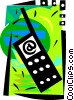 Vector Clipart illustration  of a Cell phone