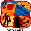 Hikers Vector Clip Art picture