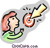 Woman with target Vector Clipart picture