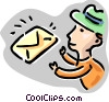 Vector Clipart graphic  of a Man with letter
