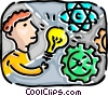 Vector Clipart graphic  of a Man with an idea
