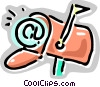 E-mail in the mailbox Vector Clipart illustration