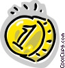 Vector Clip Art graphic  of a Dollar coin