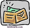 Wallet with money Vector Clipart illustration