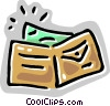 Vector Clipart illustration  of a Wallet with money