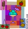 Vector Clipart illustration  of a Ice Cream and Frozen Treats