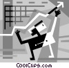 Vector Clipart picture  of a Businessman charting success