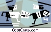 Vector Clip Art image  of a Businessmen shaking hands