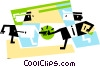 Vector Clipart graphic  of a Businessmen shaking hands