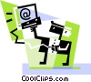 Vector Clipart illustration  of a Online Concepts
