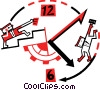 Concepts of time Vector Clip Art graphic