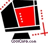 Computer monitor Vector Clip Art picture