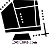 Vector Clip Art graphic  of a Computer monitor