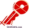 House key Vector Clip Art graphic