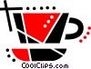 Vector Clipart picture  of a Cup of tea