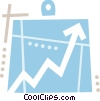 Clipboard and chart Vector Clipart picture
