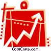 Vector Clip Art image  of a Clipboard and chart