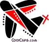 Commercial jet Vector Clip Art picture