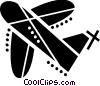 Vector Clipart graphic  of a Commercial jet