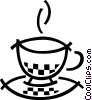 Hot cup of tea Vector Clip Art graphic