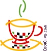 Vector Clipart image  of a Hot cup of tea