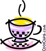 Hot cup of tea Vector Clipart illustration