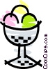 Ice Cream sundae Vector Clip Art picture