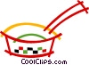 Vector Clip Art graphic  of a Frying Pan