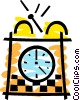 Vector Clipart graphic  of an Alarm Clocks