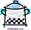 Vector Clip Art graphic  of a Pots and Pans