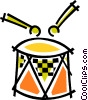 Vector Clipart picture  of a Miscellaneous Drums