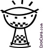 Vector Clipart graphic  of an African drum