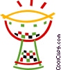 Vector Clipart image  of an African drum