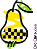 Pear with leaf Vector Clip Art graphic