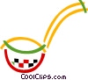 Soup Ladle Vector Clip Art graphic