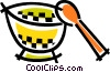 Bowl and spoon Vector Clip Art picture