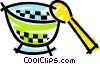 Bowl and spoon Vector Clipart picture