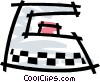 Electric iron Vector Clip Art picture