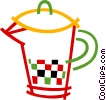 Vector Clip Art graphic  of a Juice jug