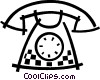 Home telephone Vector Clip Art picture