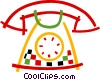 Vector Clip Art picture  of a Home telephone