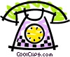 Home telephone Vector Clipart graphic
