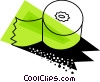 Vector Clipart illustration  of an Adding machine paper