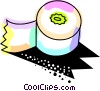 Adding machine paper Vector Clip Art image