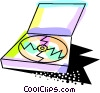 Vector Clip Art image  of a Cd-rom