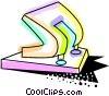 Vector Clip Art graphic  of a Hole puncher