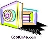 Vector Clipart graphic  of a Opened vault